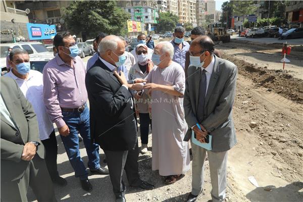 تطوير شوارع جزيرة العرب والسودان والحمامصى بالجيزة
