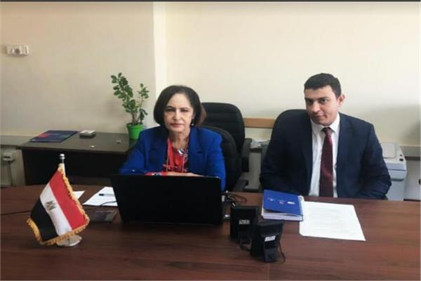 السفيرة نائلة جبر رئيس اللجنة الوطنية التنسيقية لمكافحة ومنع الهجرة غير الشرعية