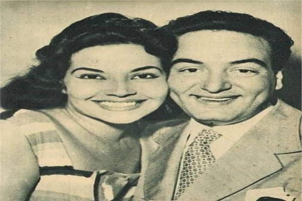 محمد فوزي ومديحة يسري