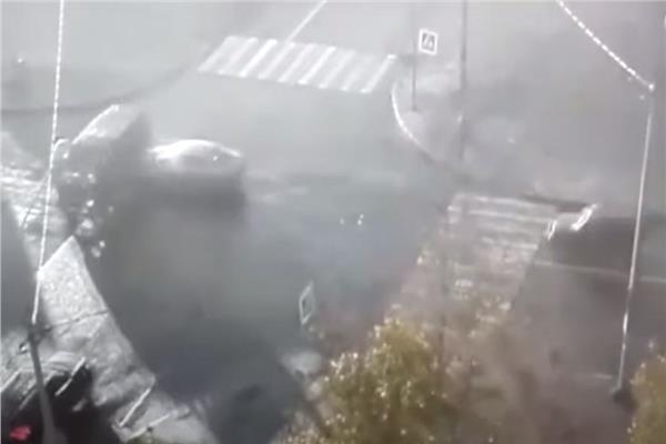حادث مروري لحافلة تنقل أطفالا في سان بطرسبورغ روسيا