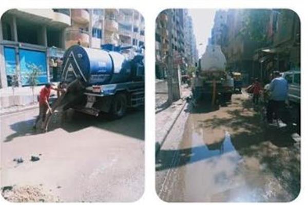 حملة مكبرة لرفع الاشغالات والازالات فى حي الهرم