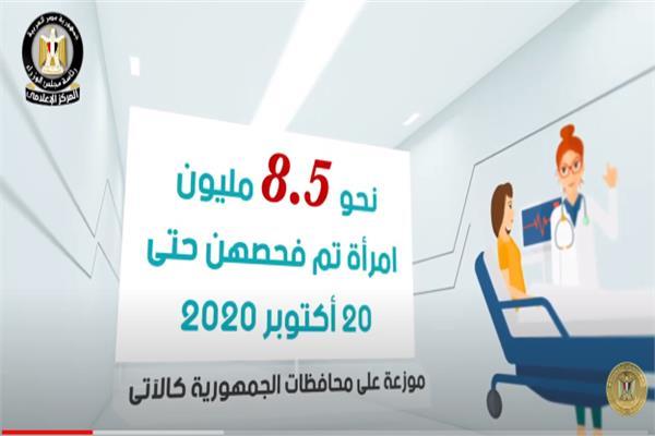 إنجازات مبادرة السيد رئيس الجمهورية لدعم صحة المرأة المصرية