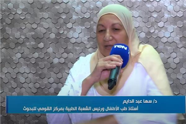 الدكتورة سها عبد الدايم، مدير مركز التميز العلمي بالمركز القومي للبحوث