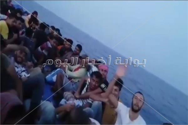 مشهد من الفيديو لمركب الهجرة غير الشرعية