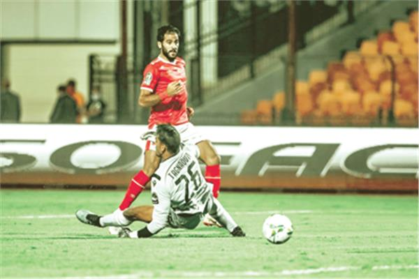 لقطة الهدف الأول للأهلي الذى سجله مروان محسن