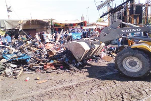 حملة مكبرة لإزالة مخلفات وآثار الحريق