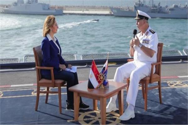 الفريق أحمد خالد خلال لقاءه بالإعلامية لميس الحديدى