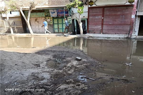 مياه الصرف الصحي تغرق شوارع الإبراهيمية