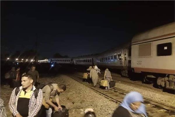 الناجون من حادث القطار