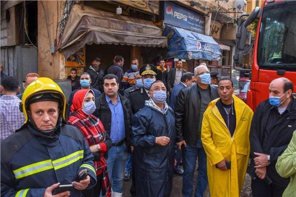 انهيار سقف عقار بالإسكندرية