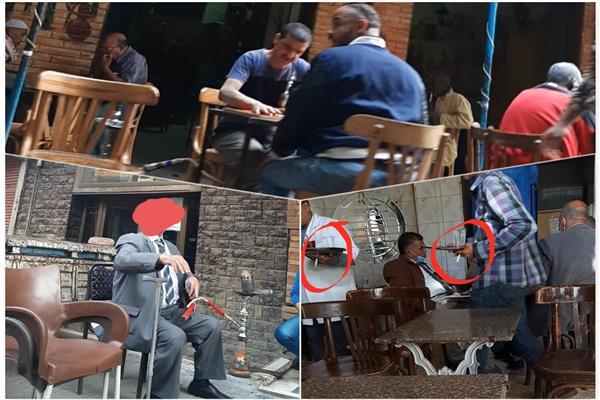 مشاهد من عودة الشيشة في المقاهي