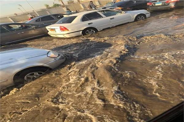 الأمطار تسببت في تجمع المياه بمدينة نصر