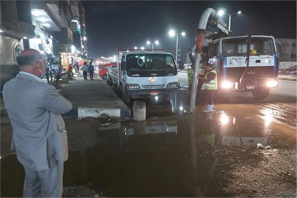 اعمال شفط الأمطارفي شبرا