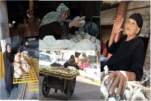 سيدات المطر.. كفاح مصريات رغم البرد وكورونا