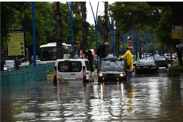 السيول في إسرائيل
