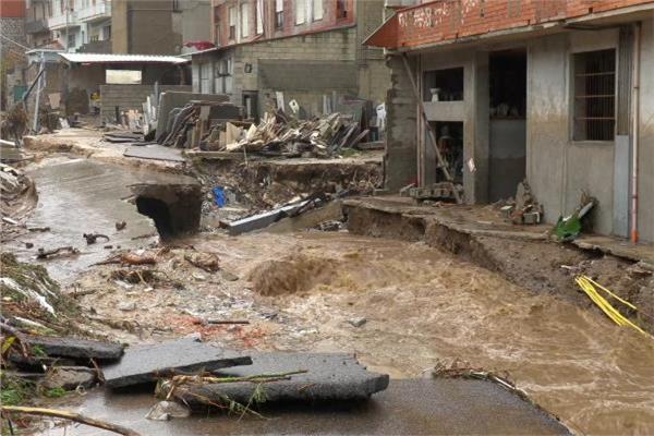 الفيضانات في جزيرة سردينيا الإيطالية