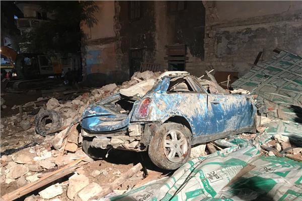انهيار عقار الإسكندرية