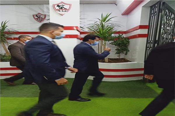 وصول وزير الرياضة لنادي الزمالك