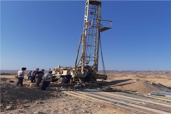 الانتهاء من حفر 7 آبار للمياه الجوفية