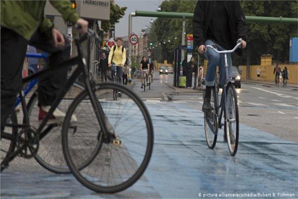 دراجات فى شوارع برلين