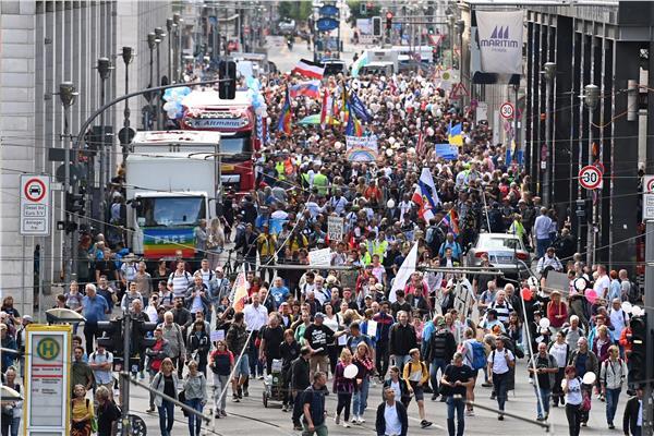 مظاهرة مناهضة للكمامات في فيينا