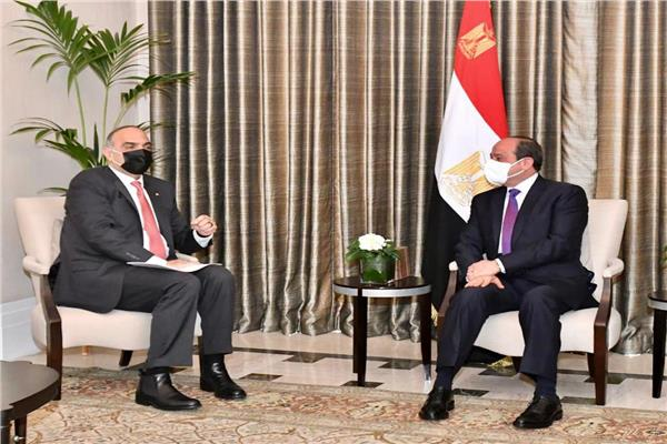 الرئيس عبد الفتاح السيسى خلال اللقاء