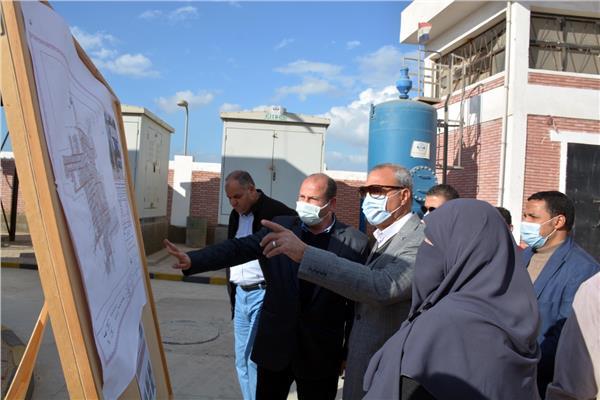 تفقد اللواء عبد الحميد الهجان محافظ القليوبية أعمال إنشاء مستشفي القناطر