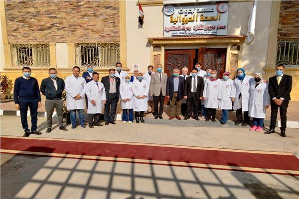 خلال زيارة معامل معهد صحة الحيوان بالإسكندرية