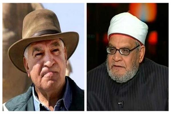 مشادة على الهواء بين زاهى حواس وأحمد كريمة