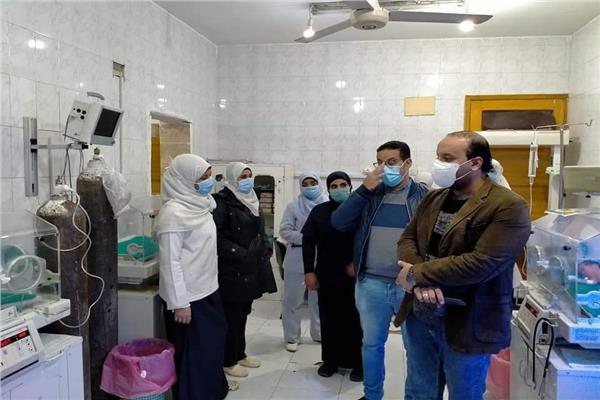 العديسي يتفقد مستشفى دشنا بقنا للتأكد من تقديم الخدمات الطبية للمرضى