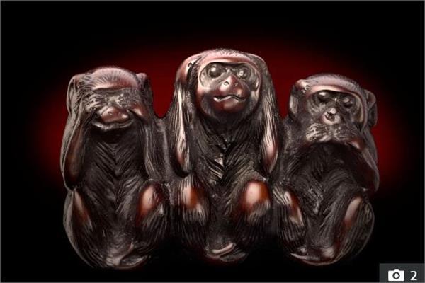 """صورة """"القرود الحكيمة"""""""