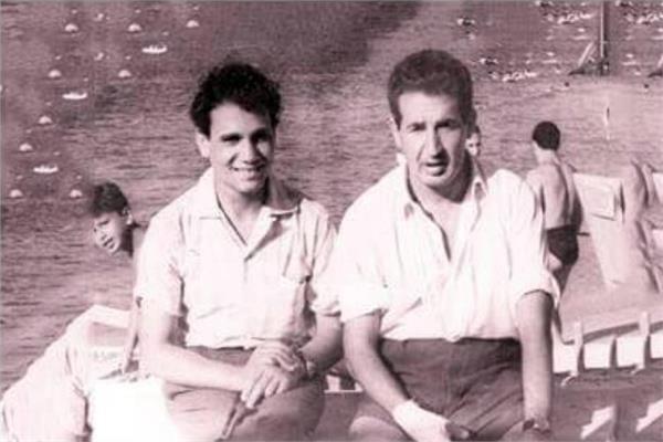 عبدالحليم حافظ وإحسان عبدالقدوس- أرشيفية