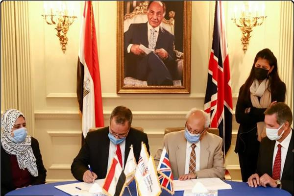 بروتوكول تعاون بين جامعتي السويس والبريطانية في هندسة البترول والطاقة والبيئة