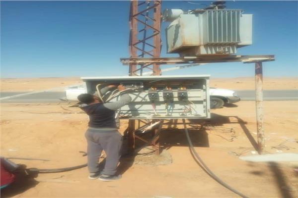 انقطاع التيار الكهربائي  في سيناء