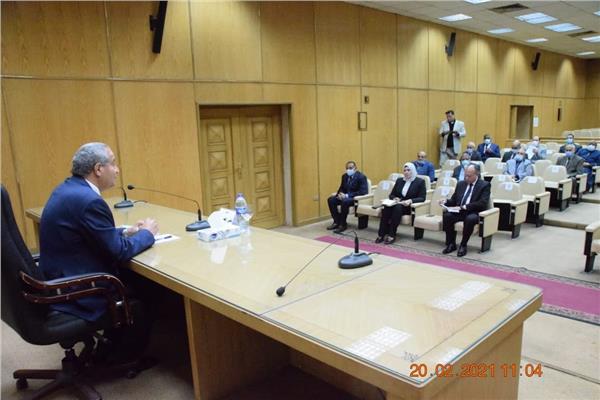 جانب من لقاء وزير التموين بمديري المديريات بالمحافظات