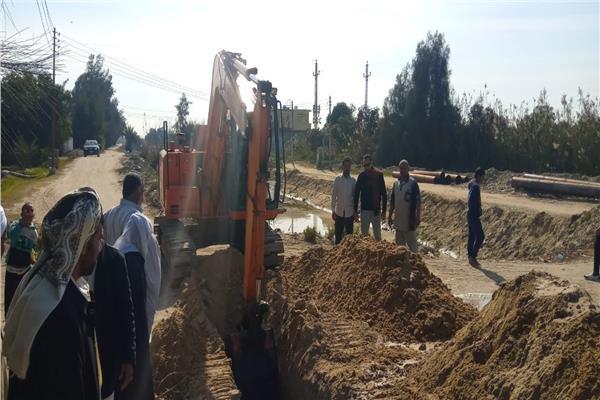 توصيل المياه لمنطقة الإصلاح لخدمة أكثر من 2000 مواطن بالإسماعيلية