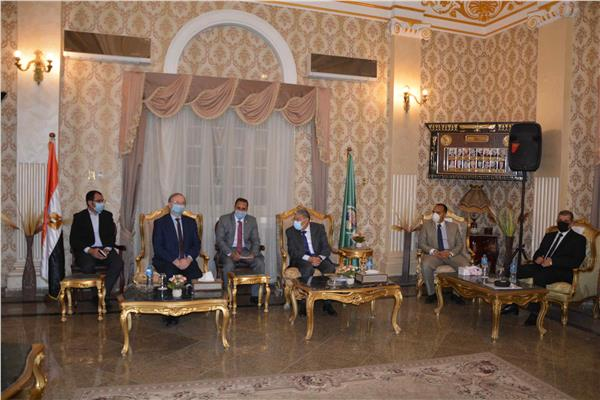 محافظ المنيا وسفير الاتحاد الاوربى