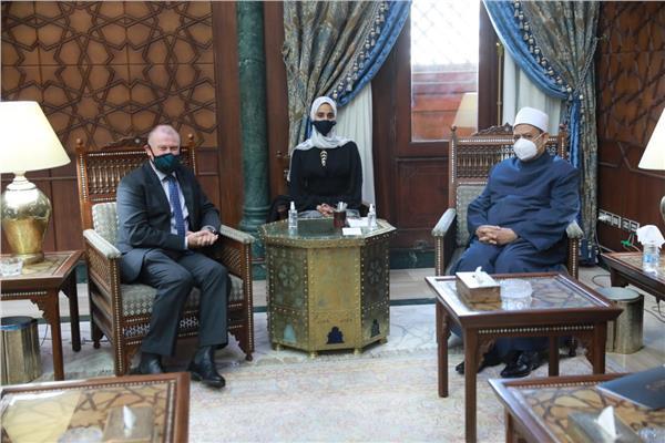 الإمام الأكبر يستقبل سفير استراليا بمقر مشيخة الأزهر