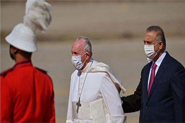 مصطفى الكاظمي والبابا فرنسيس