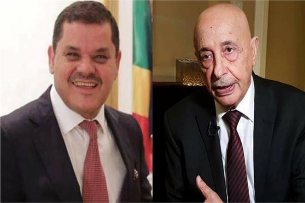 رئيس الحكومة الليبية عبد الحميد دبيبة ورئيس البرلمان عقيلة صالح