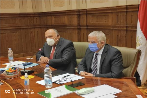 وزير الخارجية سامح شكري خلال اجتماع اللجنة