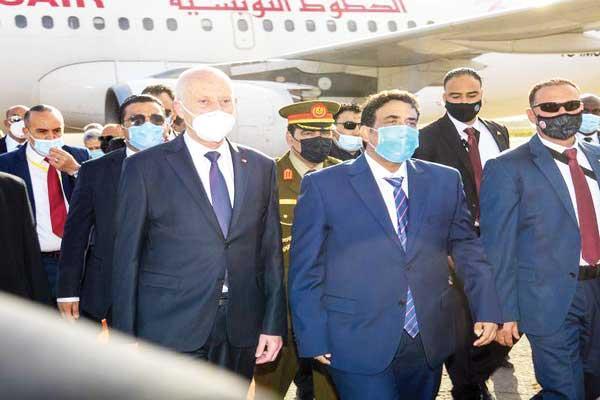 رئيس المجلس الرئاسي الليبى يستقبل الرئيس التونسى فى طرابلس
