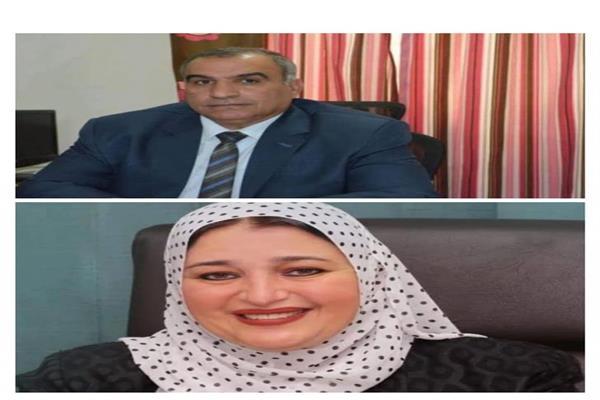 الدكتور عادل رحومه رئيس الاتحاد العربى للمجتمعات العمرانية والدكتورة عبير عصام عضو مجلس الاتحاد