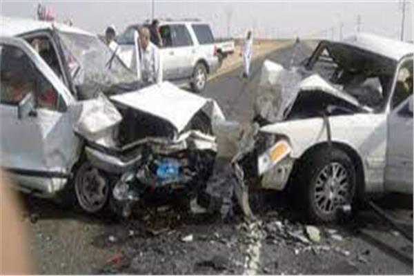 حادث تصادم سيارتين بالإسماعيلية