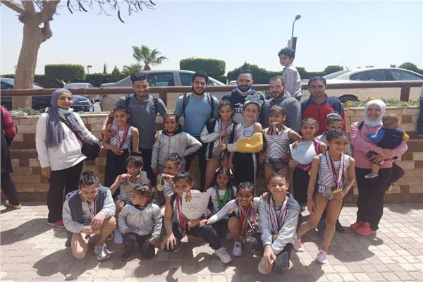 مركز شباب الجزيرة يحصد 32 ميدالية متنوعة في بطولة كأس مصر للجمباز