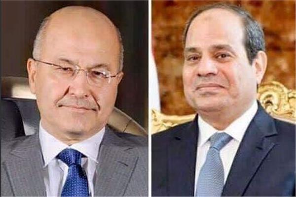 الرئيس السيسي ونظيره العراقي - أرشيفية