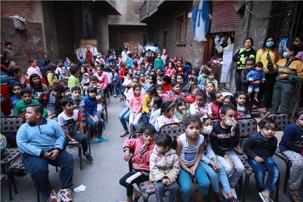 سينما الشارع الأسقفية تنظم يومًا ترفيهيًا ضمن  معاً من أجل تنمية مصر بمنشية ناصر
