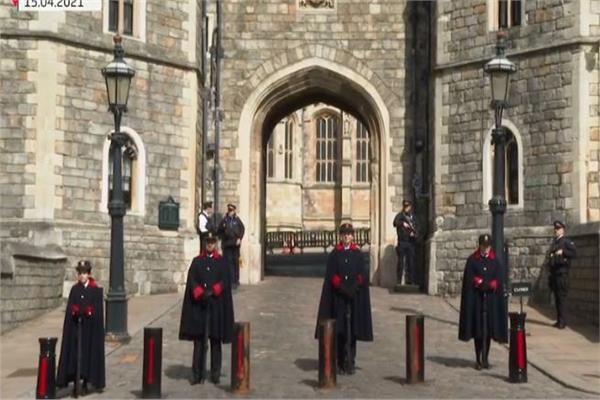 استعدادات فى قلعة وندسور لحفل تأبين الملك فيليب