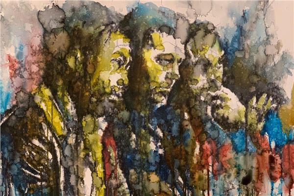 عضو هيئة تدريس بتطبيقية حلوان يشارك كأول فنان مصري بمعرض إندونيسيا الدولي