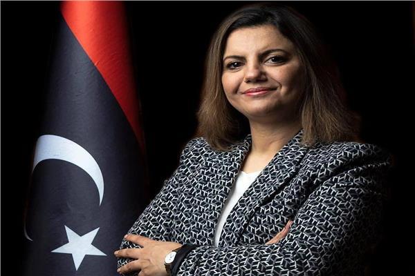 نجلاء المنقوش وزيرة الخارجية والتعاون الدولي الليبية